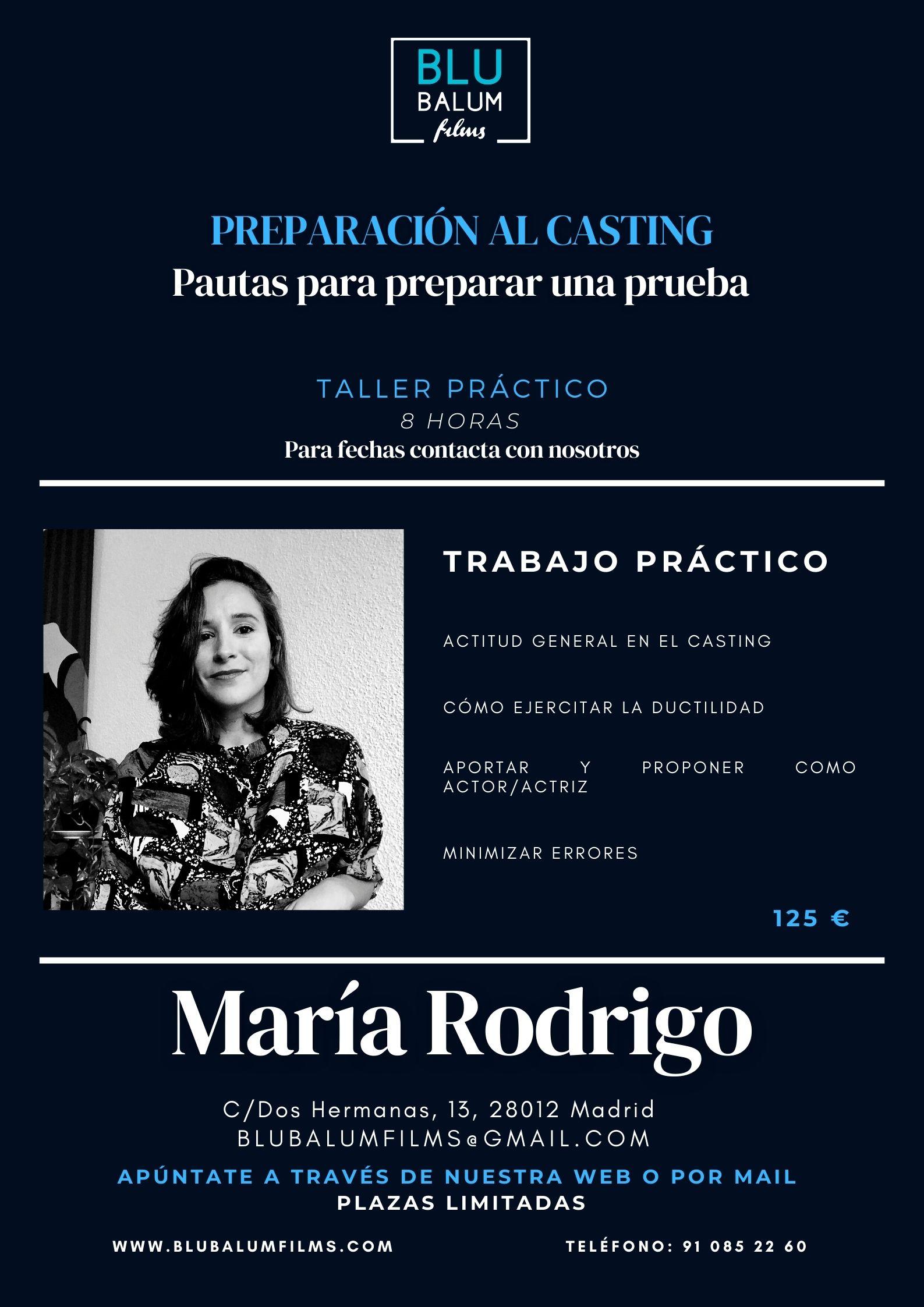 María Rodrigo - Preparación al casting